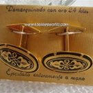 Vintage Damascenes 24K Cuff Links Spain