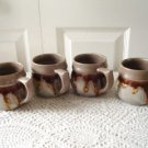 Vintage Laurentian Pottery 4 Cups TUNDRA