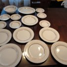 Vintage Alfred Meakin Astro gold Rose China 15 Pcs Lot