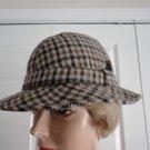Vintage Brown 100% Wool Plaid Men Hat 6 3/4 S Simons Bugarach  England