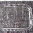 Vintage Clear Glass Embossed Fruits Rectangular Platter