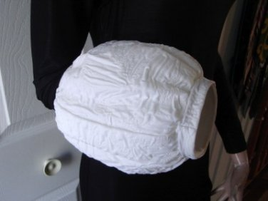 Vintage White Fabric Hat/Muff Bridal Custom Made XS
