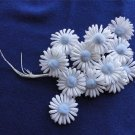 Vintage White &  Blue FlowersCluster  Milinery 60's