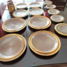 Vintage Laurentian Pottery Lava  Yellow/Brown 14 pieces Lot 70's