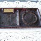 Vintage 70s Beauceware Brown Desk Cup & Paper Tray #2831