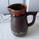 "Vintage Brown Pottery Cruet ""La Roche Pleureuse"" Canada"