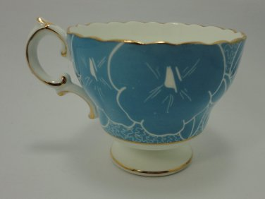 Vintage Blue & White Bone China Cup Cauldon England