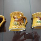 Vintage Pottery Yellow Measuring Cups 70s