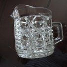 Vintage Pressed Clear Glass Creamer Squares & Ribs Design