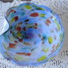Vintage Multicolor On Blue Art Dish Murano?, Chalet?