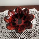 Red & Black Candy Vase Pottery Evangeline Canada 70s