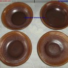 Beauceware Pottery Set 4 Brown Soup Dish GT 101/57