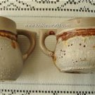 Vintage Laurentian Pottery Tundra Creamer & Open Sugar