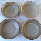 Vintage Beige /Brown 4 Soup Bowls Beauceware #2024
