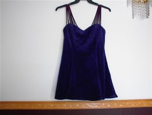 Womens Blue Velour Party / Prom / Club Dress