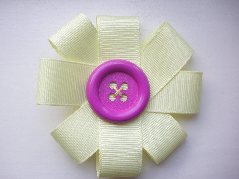 Yellow Ribbon Hair Flower