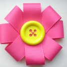 Pink Ribbon Hair Flower