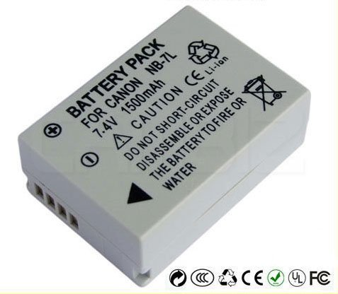 Canon NB-7L Battery (1500mAh) for PowerShot SX30 IS, G-10, G-11, G-12