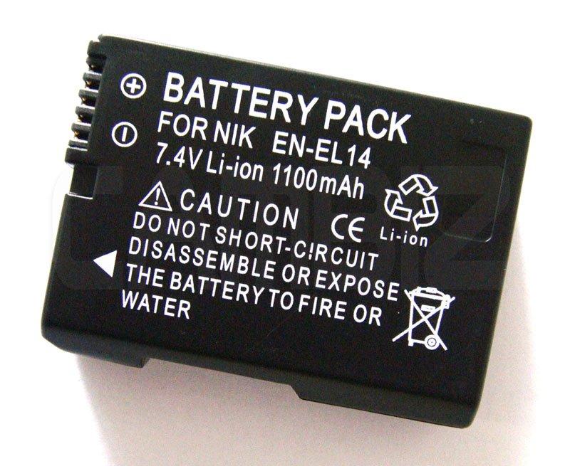 Nikon EN-EL14 DSLR Battery (1100mAh) for DSLR D5100, DSLR D3100, COOLPIX P7000