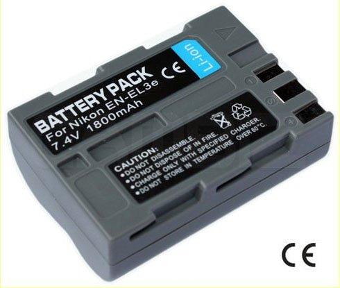 Nikon EN-EL3e DSLR Battery (1800mAh) for Nikon D50,D70,D70s,D80,D90,D100,D200,D300,D300s,D700
