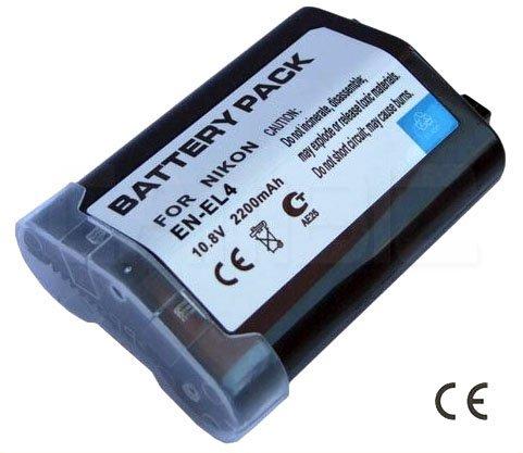 Nikon EN-EL4 DSLR Battery (2200mAh) for DSLR D3S,D3,D2Xs,D2X,D2H,Film SLR Camera F6