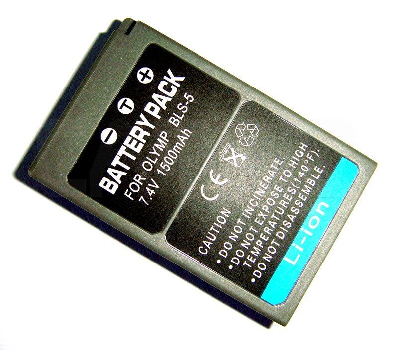 Olympus BLS-5 DSLR Battery (1500mAh) for Olympus E-P3, E-PL2. E-PL3, E-PM3