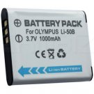 Olympus LI-50B DSLR Battery (1000mAh) for Olympus XZ-1, TG-810, TG-610, SZ-30MR, SZ-20, SZ-10