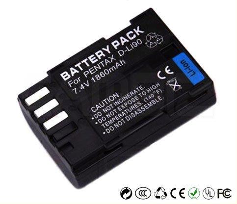 Pentax D-LI90 DSLR Battery (1860mAh) for Pentax 645D, K-5, K-7