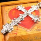 SN341 Crystal Cross Silver Pendant Necklace Best Gift Idea
