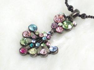 SN084 Elegant Colorful Funky Owl Black Pendant Necklace Best Gift Idea