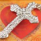 SN106 Elegant  Crystal Cross Silver Pendant Necklace Best Gift Idea