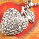 SN133 Elegant  Crystal Silver Berry Pendant Necklace Best Gift Idea
