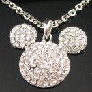 SN141 Elegant  Crystal Silver Pendant Necklace Best Gift Idea