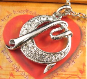 SN142 Elegant Crystal Silver Pendant Necklace Best Gift Idea