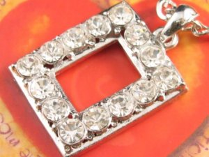 SN143 Elegant Crystal Silver Pendant Necklace Best Gift Idea