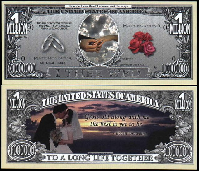 NM190 100 WEDDING DAY FULL COLOR BILLS