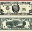AR101 100 Slick Willy BILL CLINTON 6 (Sex) DOLLAR BILL