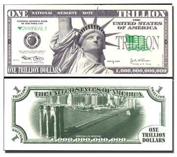 AR113 100 Brooklyn Bridge Trillion Dollar Bill