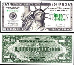 AR114 100 Liberty Trillion Dollar Bill
