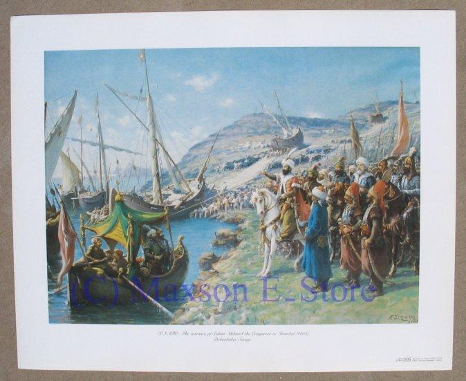 Sultan Mehmed the Conqueror entering Istambul