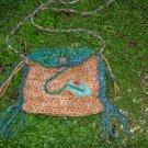 little gypsy princess - rustic handknit sparkle bag