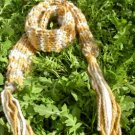 sparkling rustic handknit scarf/adornment from the enchanted forest