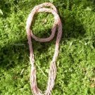 flower woman - rustic and sparkling handknit lariat/scarf