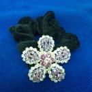 Swarovski Crystal Floral Ponytail Hair Band Scrunchy A008 Purple Haarschmuck
