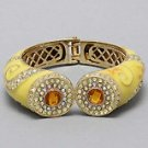 Designer Inspired Bangle-Yellow
