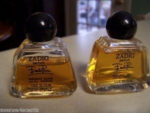 Vintage Emilio Pucci Zadig Parfum-Lot of Two 1/2 oz