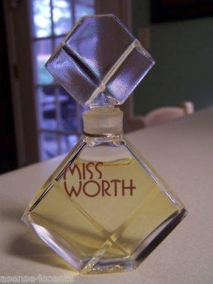 Vintage Worth Miss Worth Pure Parfum-1.0- fl. oz