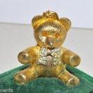 Vintage Max Factor Aquarius Creme Perfume Teddy Bear