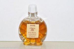 """Vintage Funel Parfumeur Chypre Parfum-Bottle 2 1/2"""" tall"""