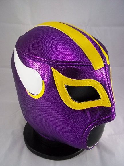 NFL UNOFFICIAL MINNESOTA VIKINGS STYLE MASK PRO FIT MEXICAN WRESTLING MASK LUCHA  LIBRE HALLOWEEN d8f75489b